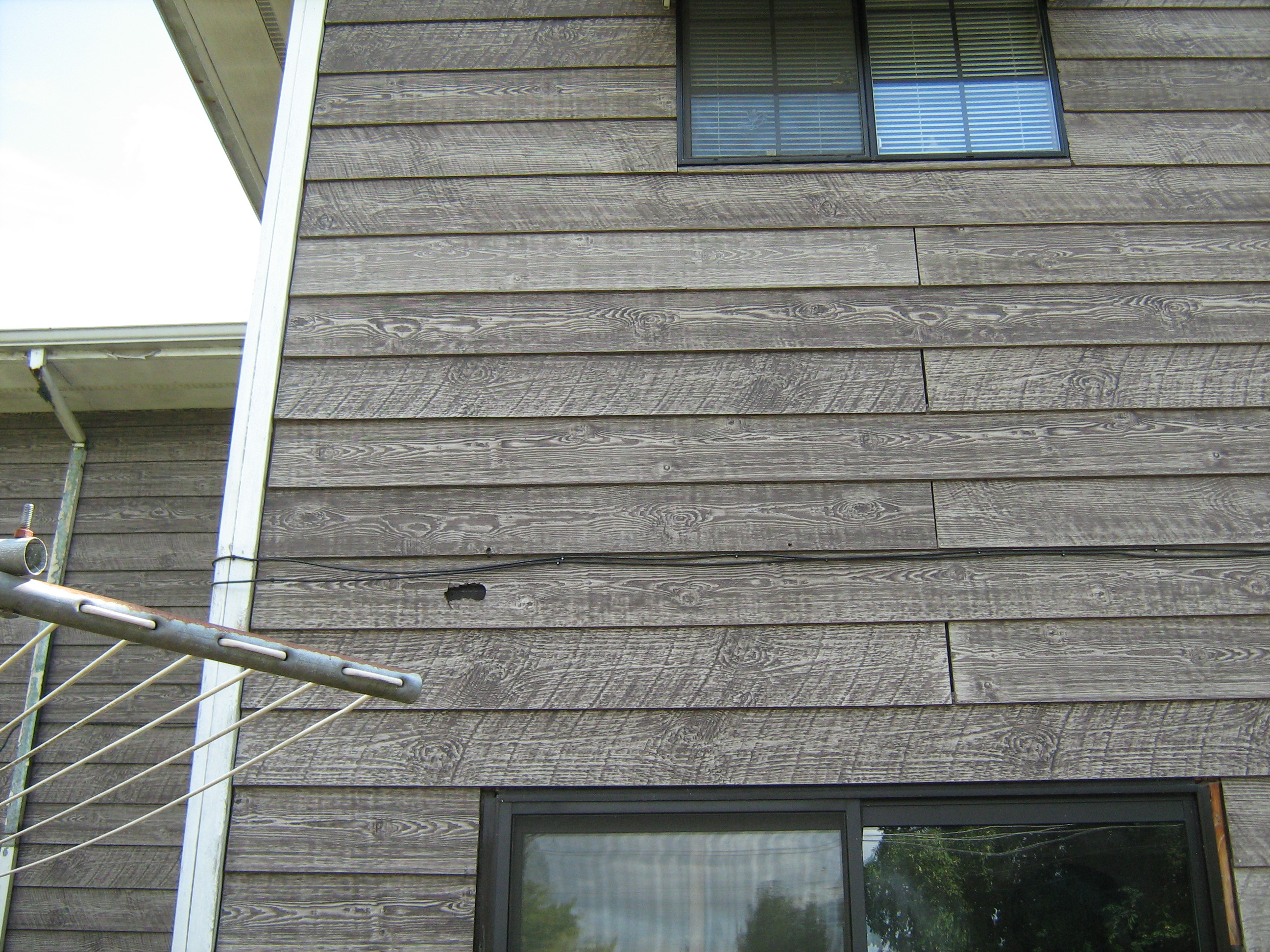 Hardboard composite siding book of stefanie for Synthetic wood siding