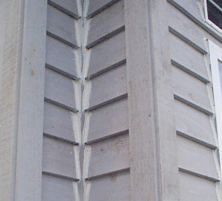 these corners are an example of a seam that has been over caulked one